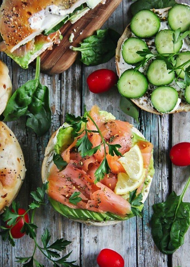 Räucherlachs Bagel Sandwich