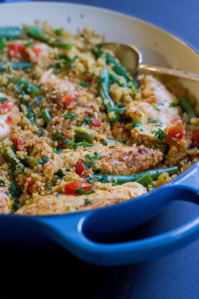 Knoblauch Lime Chicken Tender und Quinoa