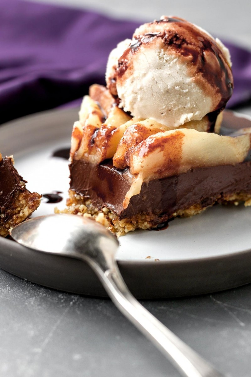 Schokoladen-Birnen-Törtchen