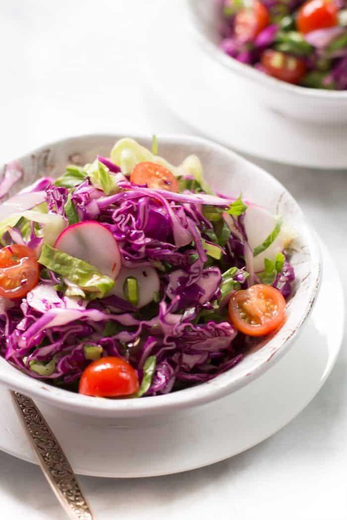 Einfacher Rotkohlsalat