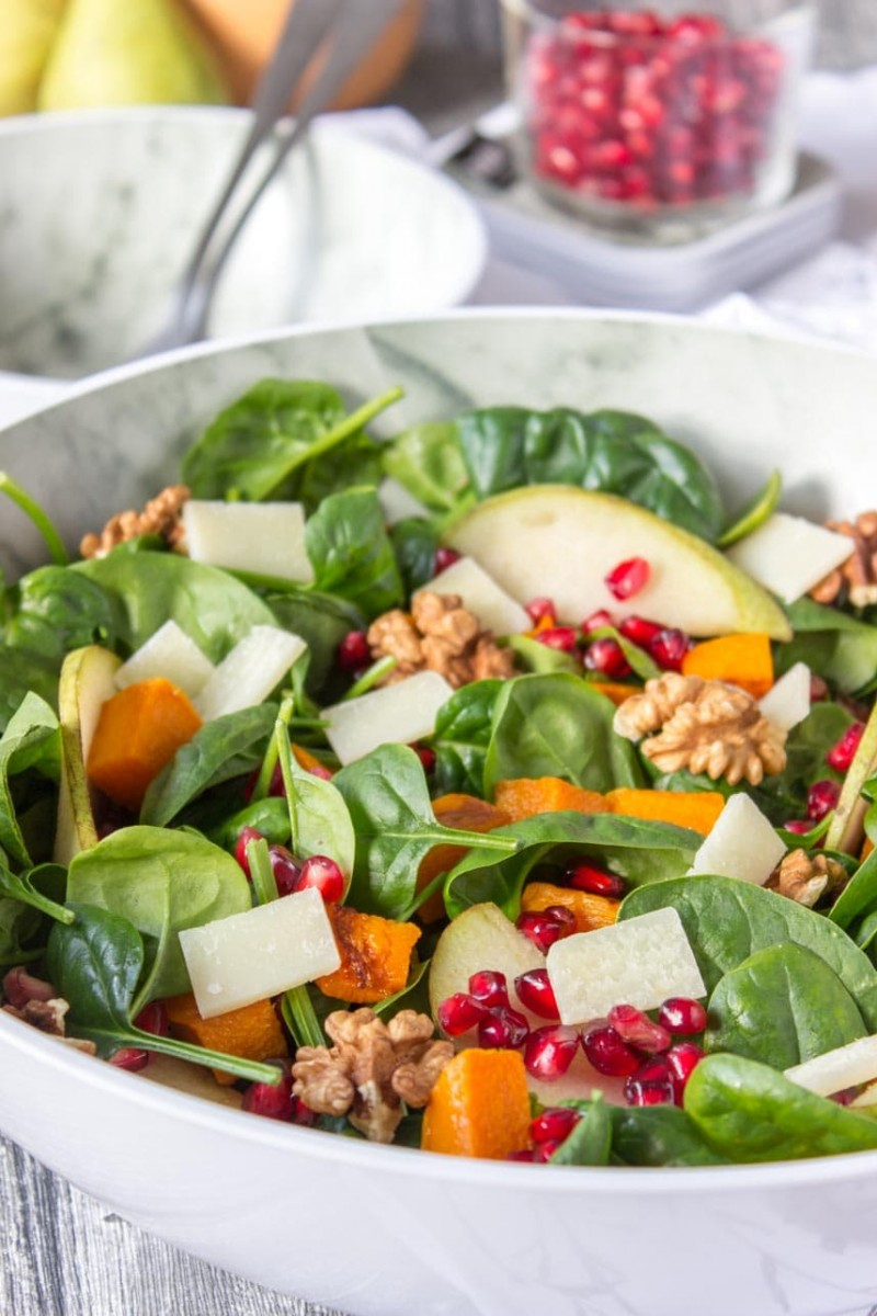 Kürbis-Birnen-Salat