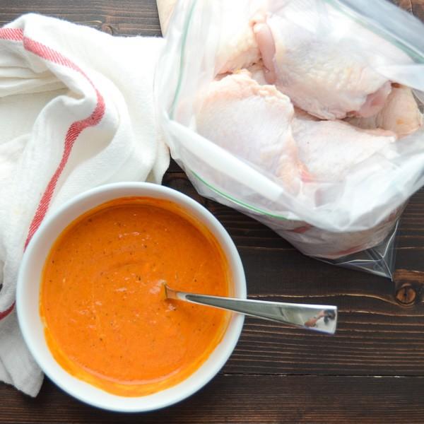 Ofengeröstetes Harissa Huhn Gebratene Chicken Breasts