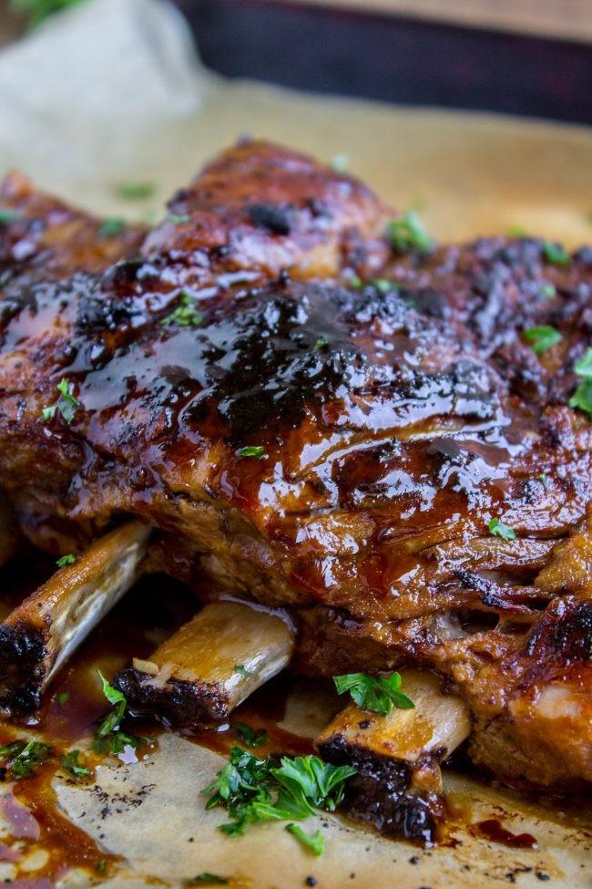 Slow Cooker Schweinebauch mit Honig-Balsamico-Glasur