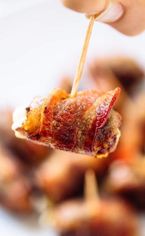 Gebackene Bacon-Wrapped Termine